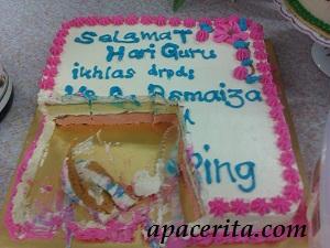 Kek yang ditaja YB Asmaiza sempena lawatan kerja pertama beliau..