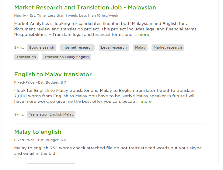 Contoh Iklan Translator Job
