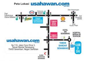 Peta lokasi pejabat Usahawan.Com